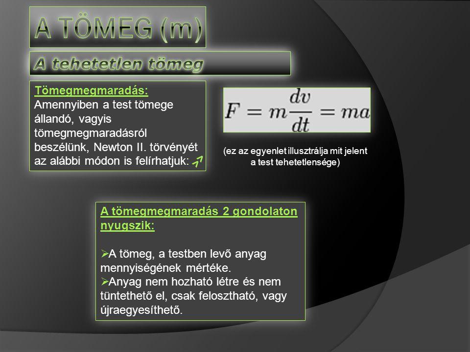 (ez az egyenlet illusztrálja mit jelent a test tehetetlensége)