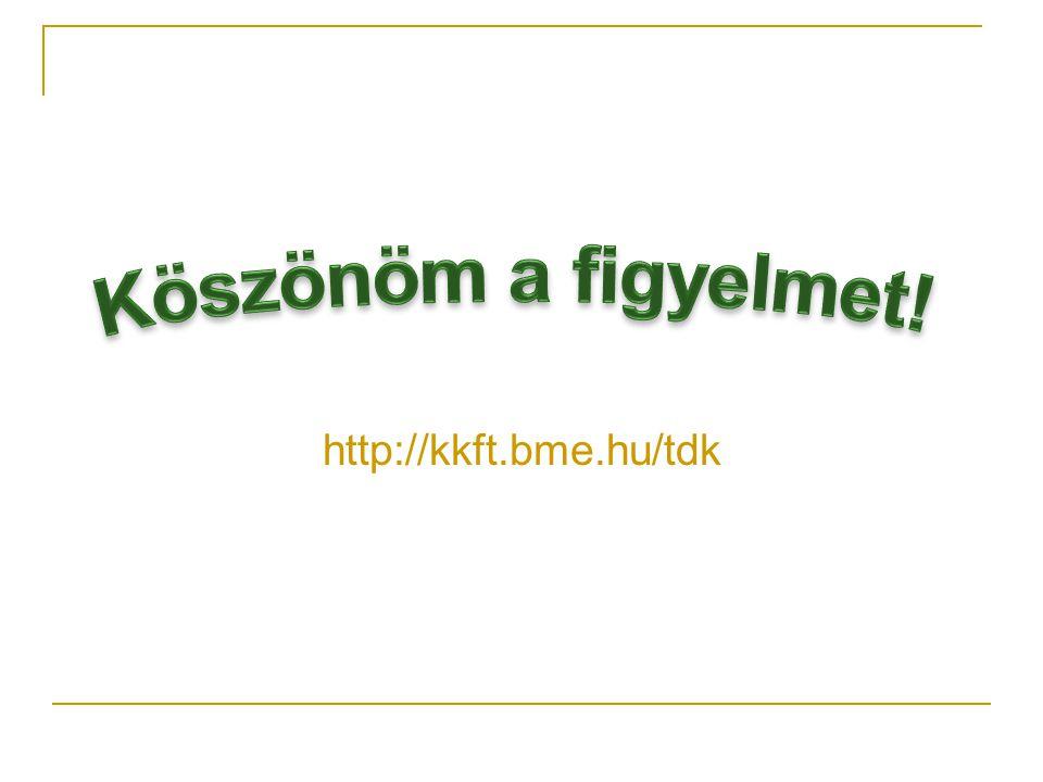 Köszönöm a figyelmet! http://kkft.bme.hu/tdk