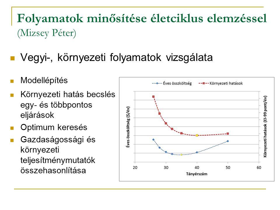 Folyamatok minősítése életciklus elemzéssel (Mizsey Péter)