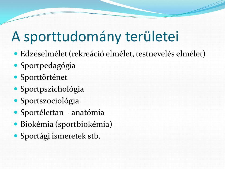 A sporttudomány területei