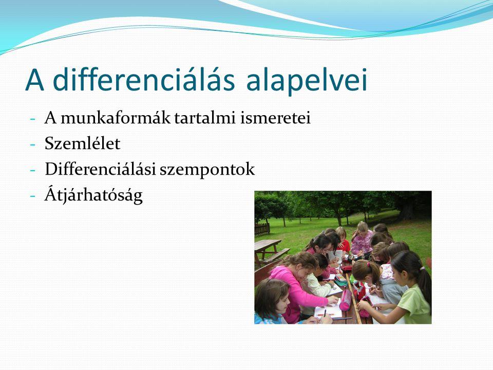 A differenciálás alapelvei