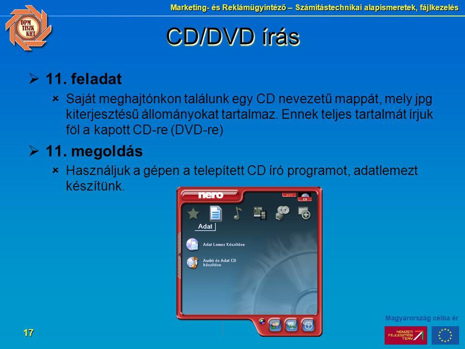 CD/DVD írás 11. feladat 11. megoldás