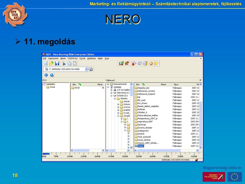 NERO 11. megoldás