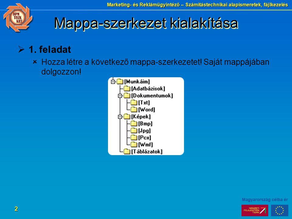 Mappa-szerkezet kialakítása