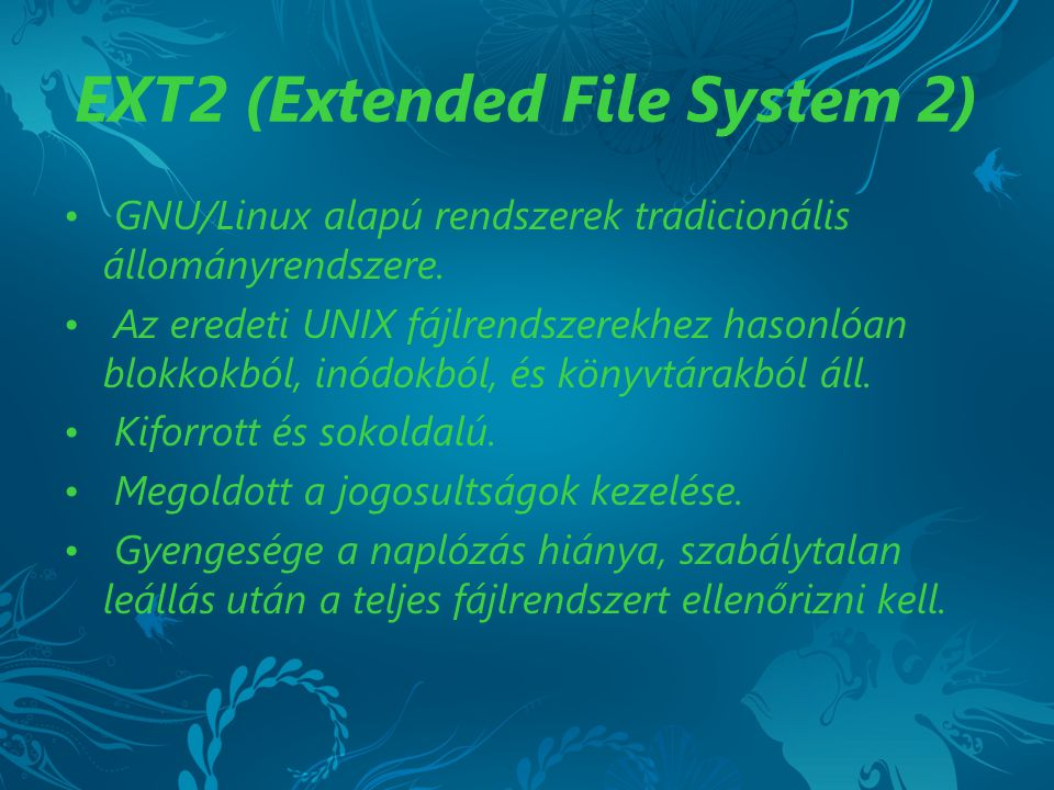 EXT2 (Extended File System 2)