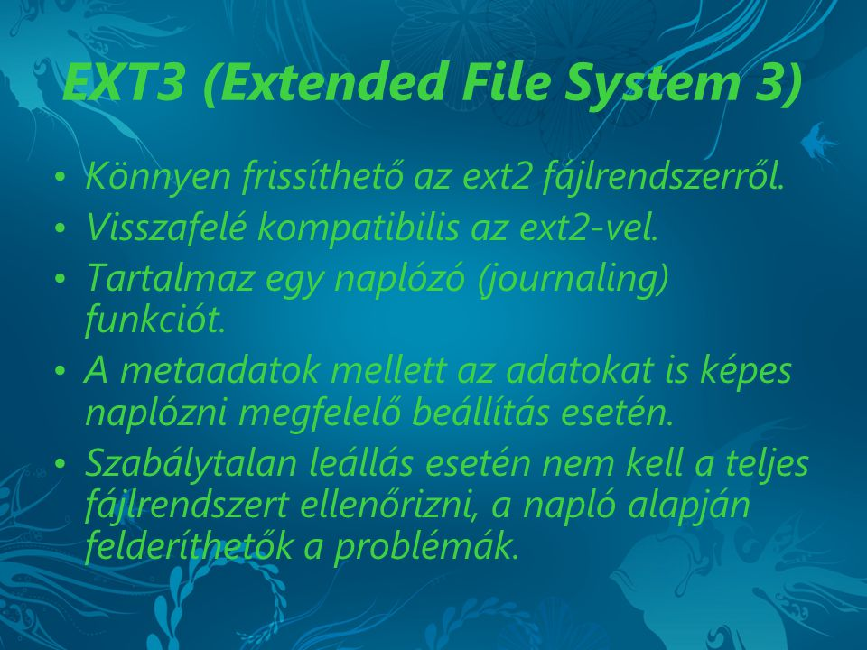 EXT3 (Extended File System 3)