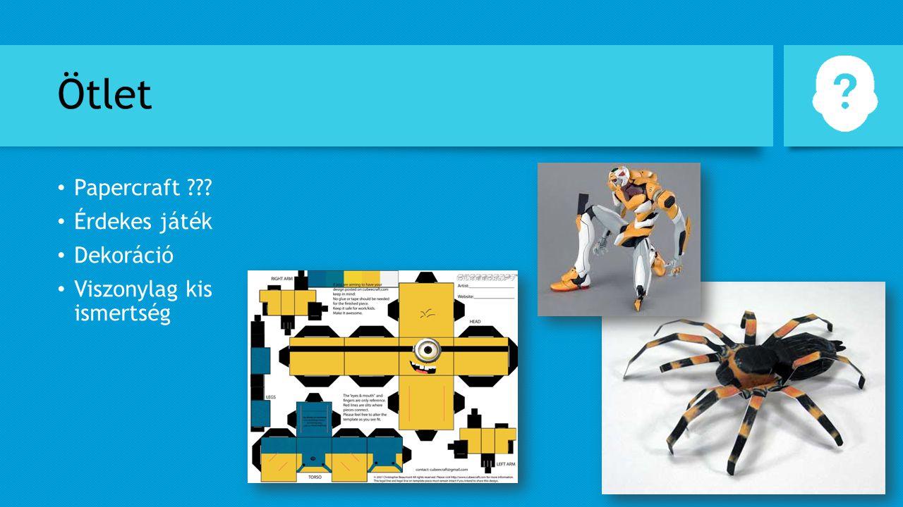 Ötlet Papercraft Érdekes játék Dekoráció Viszonylag kis ismertség