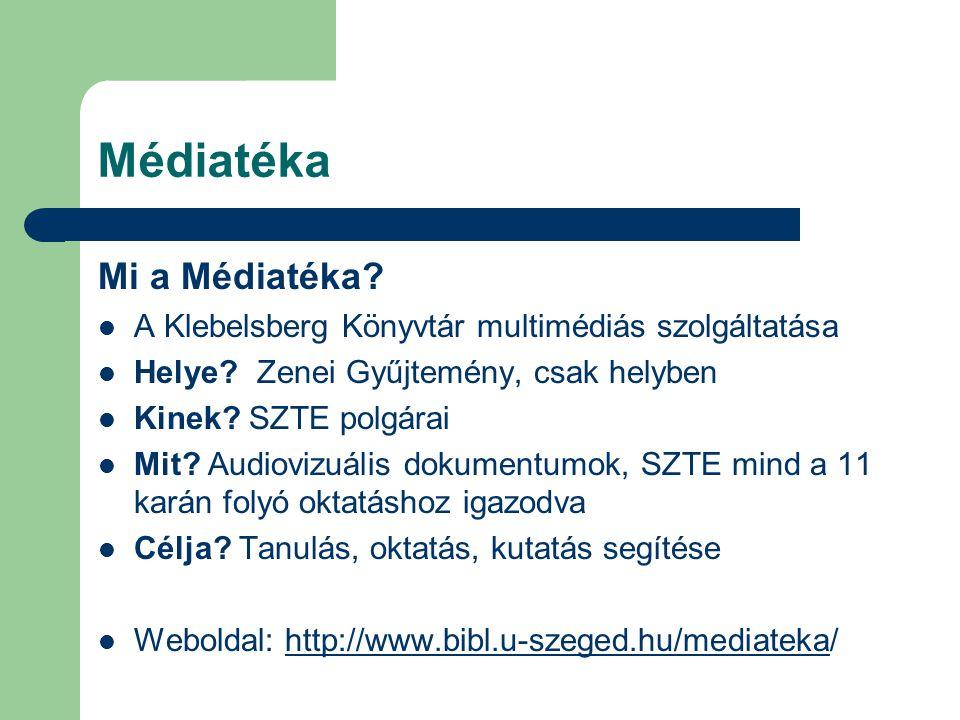 Médiatéka Mi a Médiatéka
