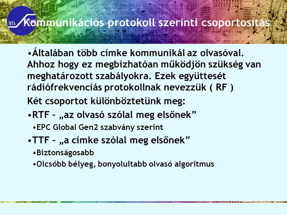 Kommunikációs protokoll szerinti csoportosítás