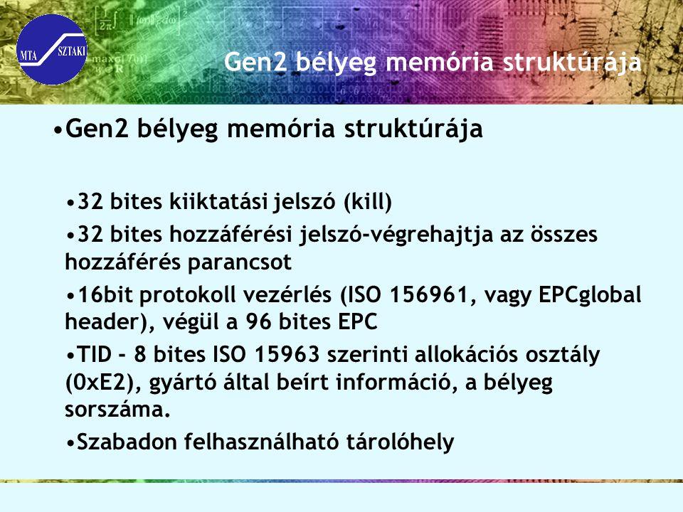 Gen2 bélyeg memória struktúrája