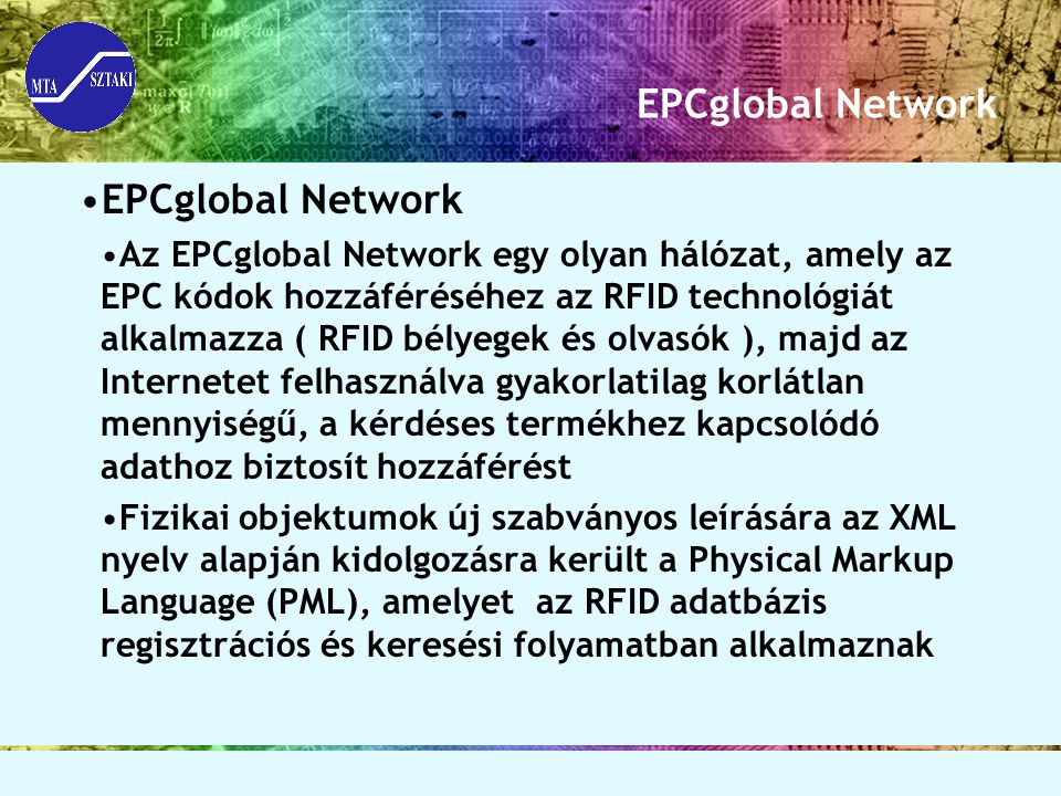 EPCglobal Network EPCglobal Network