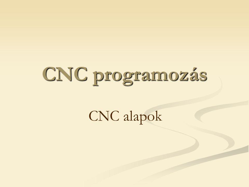CNC programozás CNC alapok