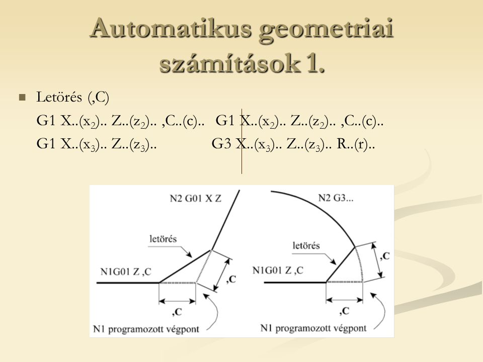 Automatikus geometriai számítások 1.