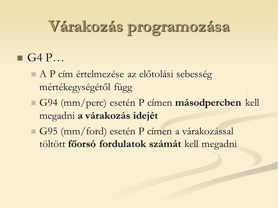 Várakozás programozása