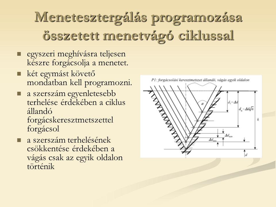 Menetesztergálás programozása összetett menetvágó ciklussal