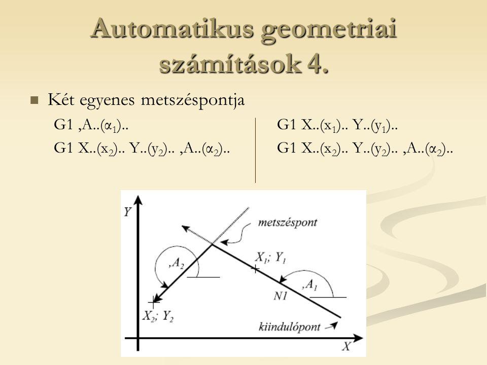 Automatikus geometriai számítások 4.