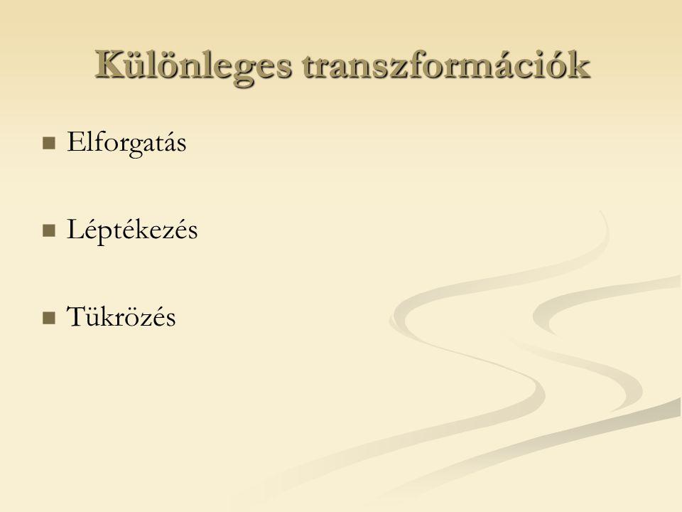 Különleges transzformációk