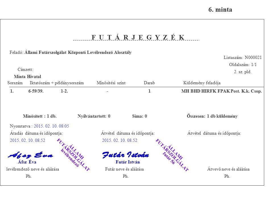 1. 6-59/39. 1-2. - 1 MH BHD HIRFK FPAK Post. K.k. Csop.