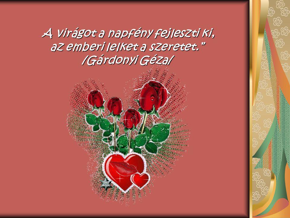 A virágot a napfény fejleszti ki, az emberi lelket a szeretet