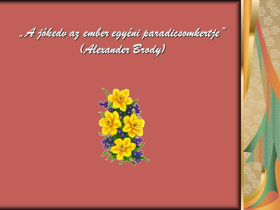 """""""A jókedv az ember egyéni paradicsomkertje (Alexander Brody)"""