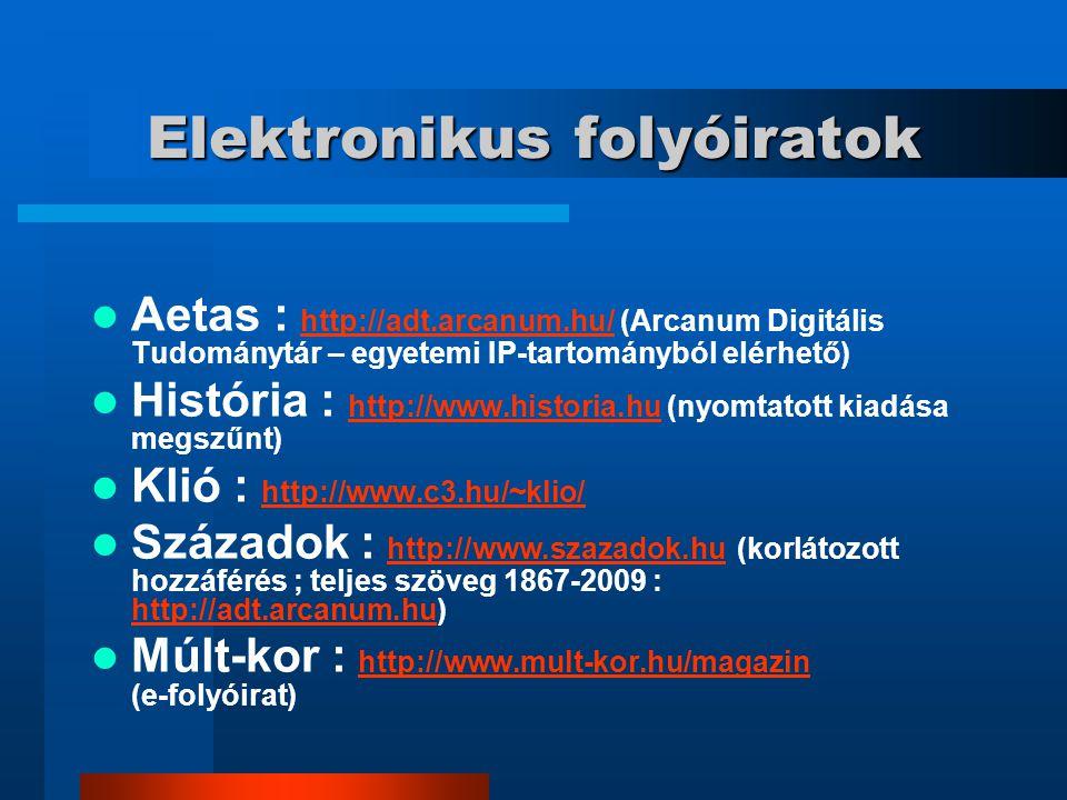 Elektronikus folyóiratok