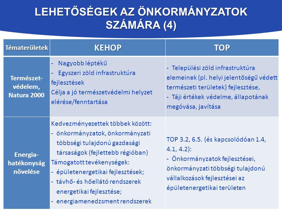 Lehetőségek az Önkormányzatok számára (4)