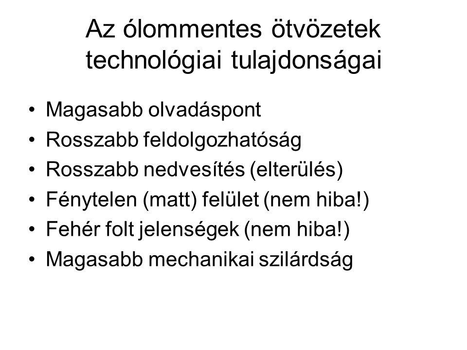 Az ólommentes ötvözetek technológiai tulajdonságai