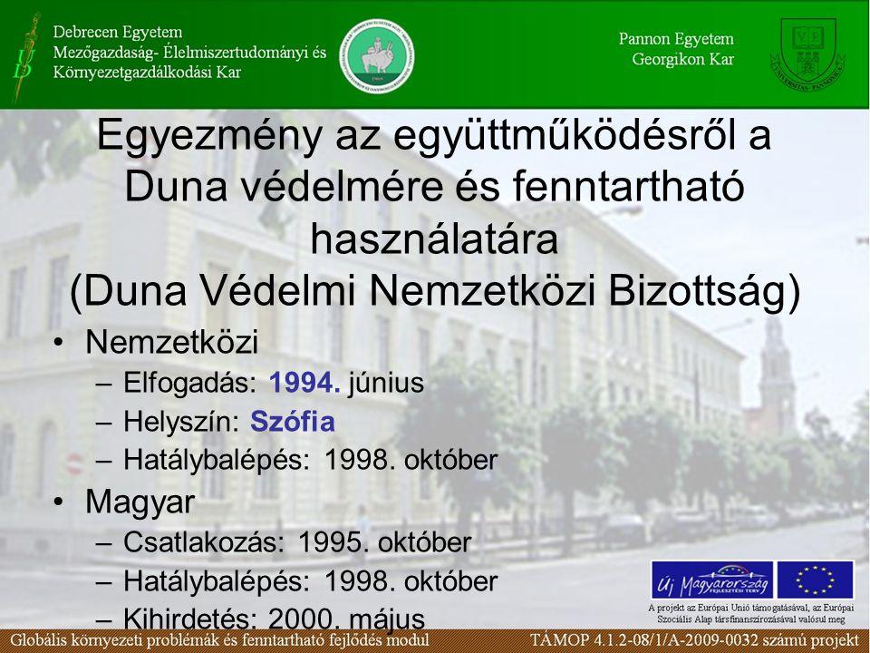 Egyezmény az együttműködésről a Duna védelmére és fenntartható használatára (Duna Védelmi Nemzetközi Bizottság)