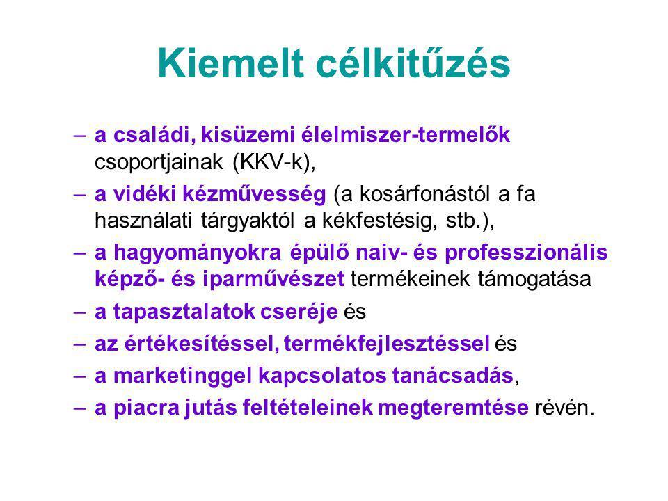 Kiemelt célkitűzés a családi, kisüzemi élelmiszer-termelők csoportjainak (KKV-k),