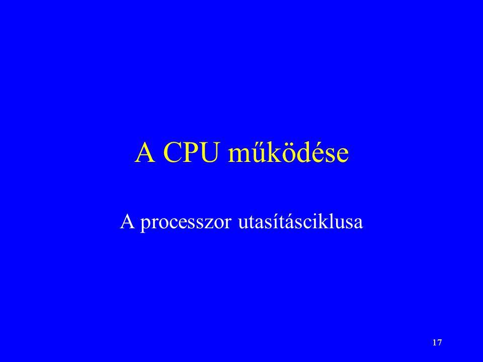 A processzor utasításciklusa