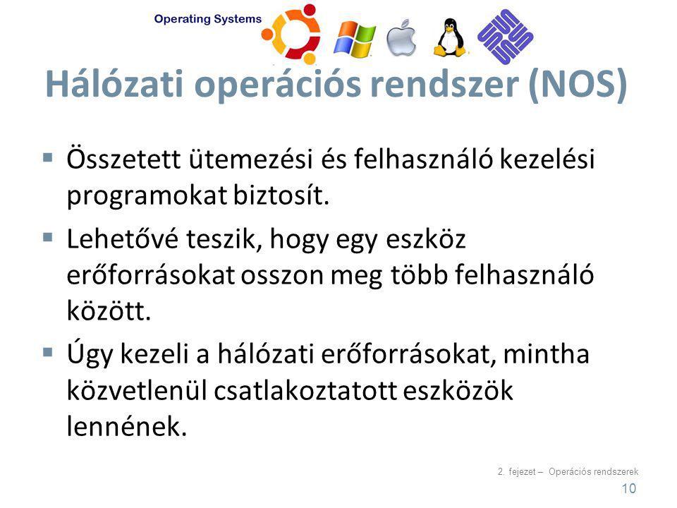 Hálózati operációs rendszer (NOS)