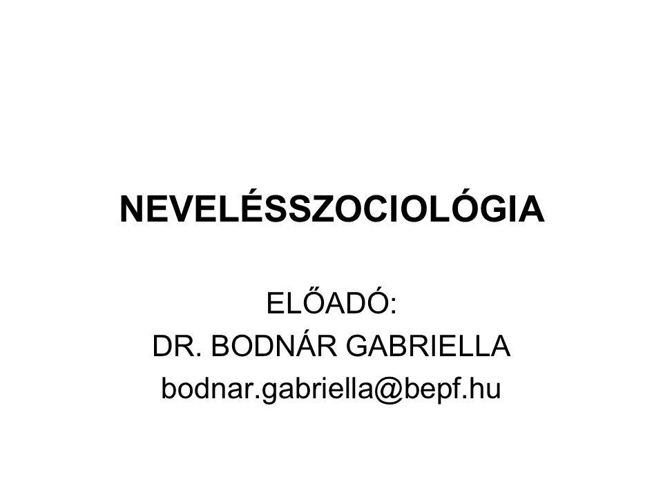 ELŐADÓ: DR. BODNÁR GABRIELLA bodnar.gabriella@bepf.hu