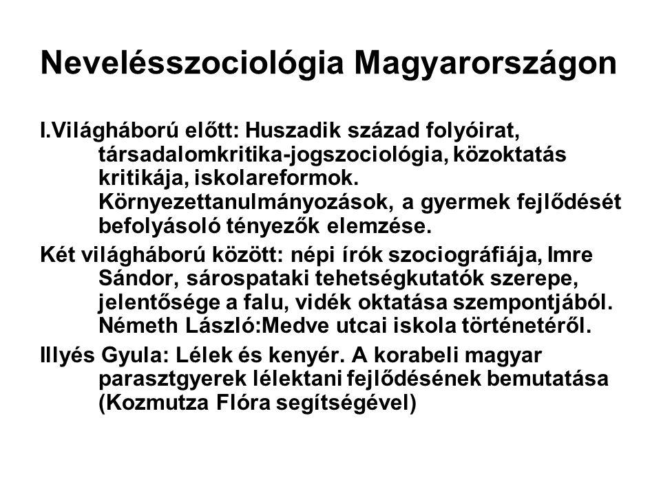 Nevelésszociológia Magyarországon