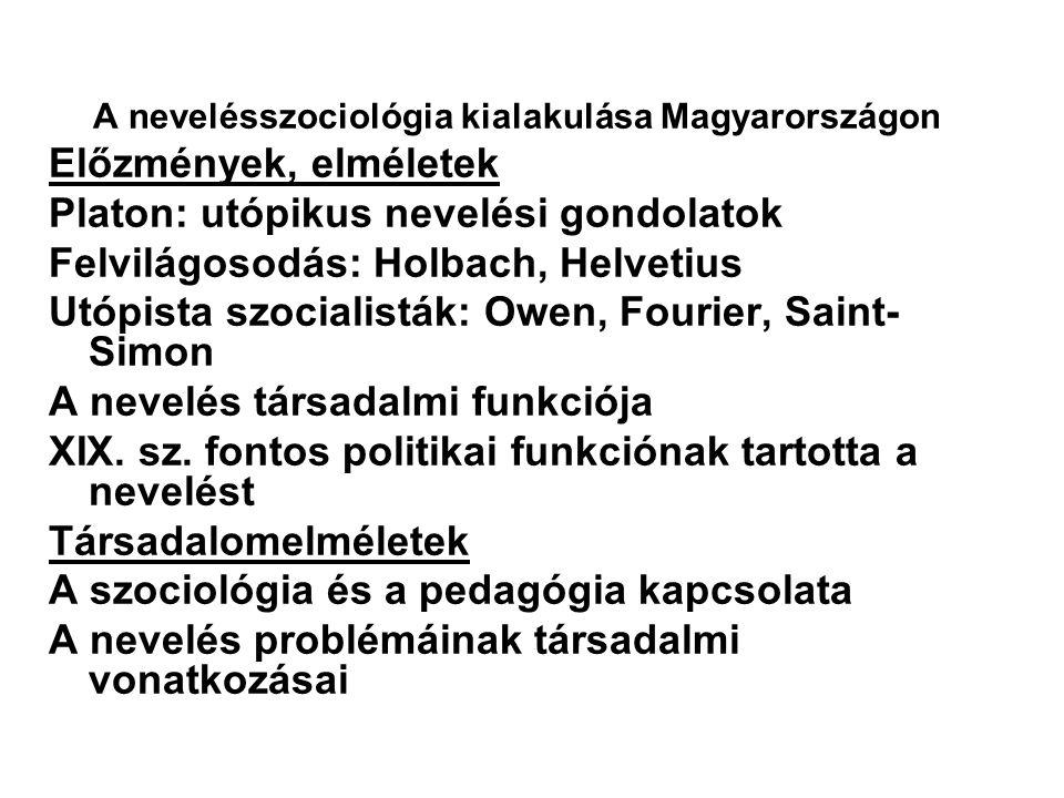 A nevelésszociológia kialakulása Magyarországon