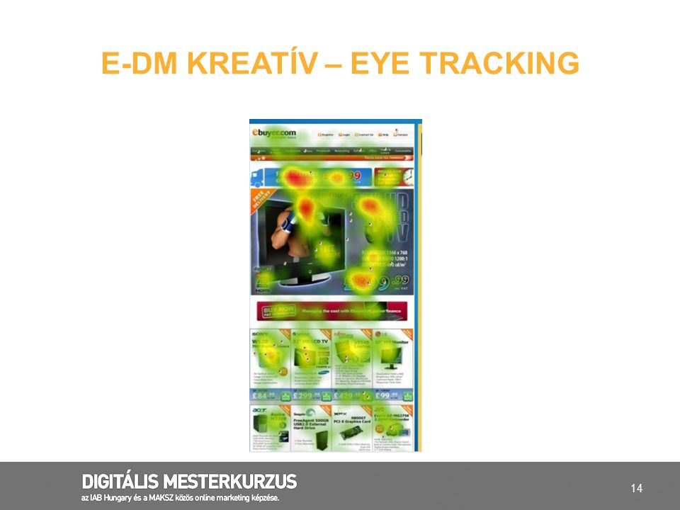 E-DM kreatív – eye tracking