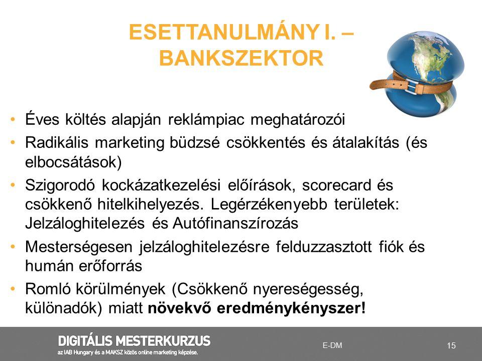 ESETTANULMÁNY I. – BANKSZEKTOR