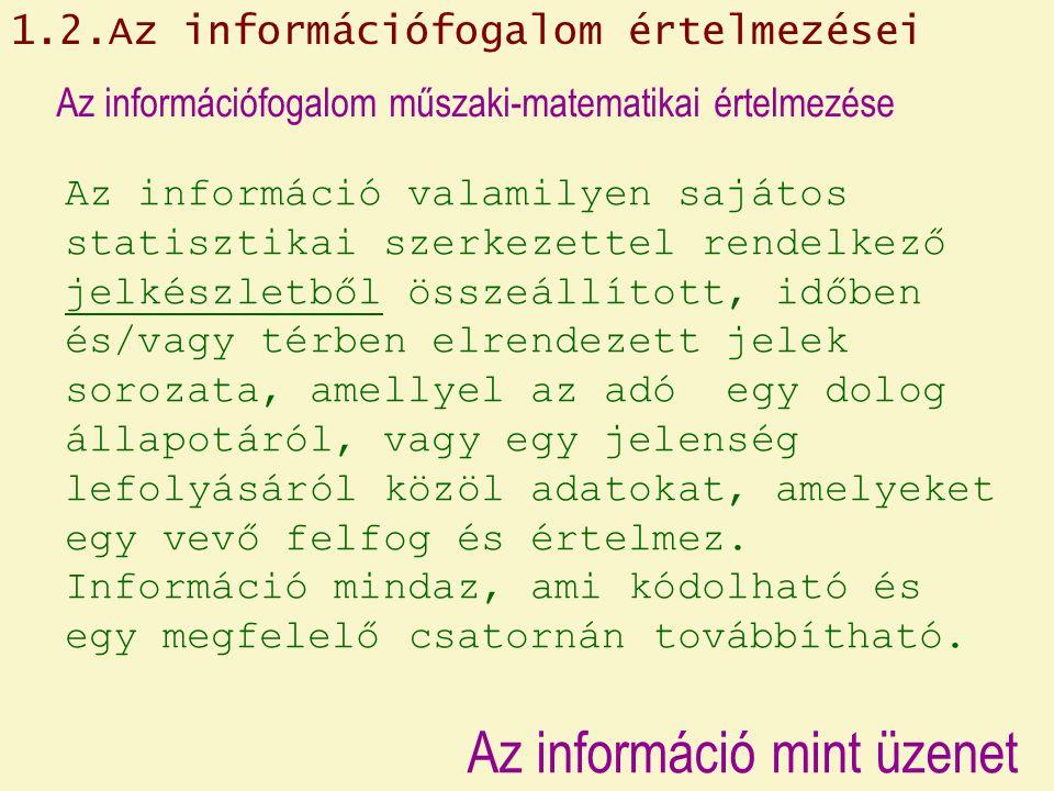 Az információ mint üzenet