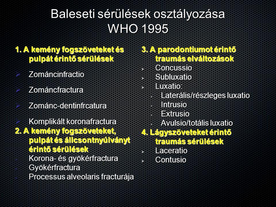 Baleseti sérülések osztályozása WHO 1995
