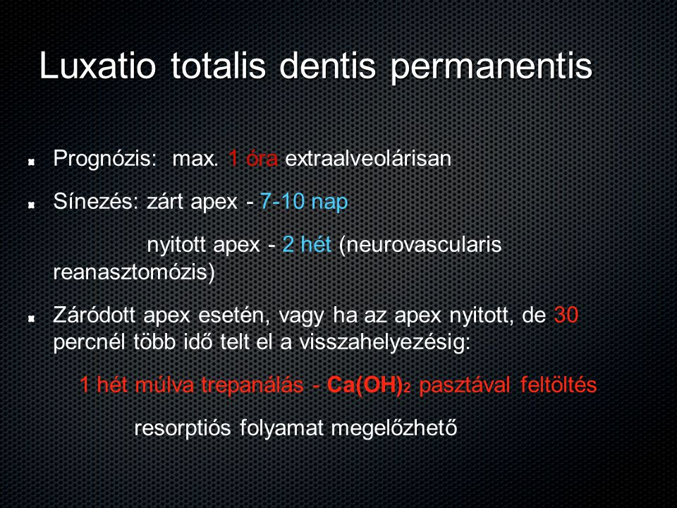 Luxatio totalis dentis permanentis
