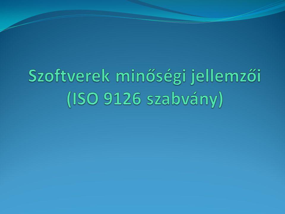 Szoftverek minőségi jellemzői (ISO 9126 szabvány)