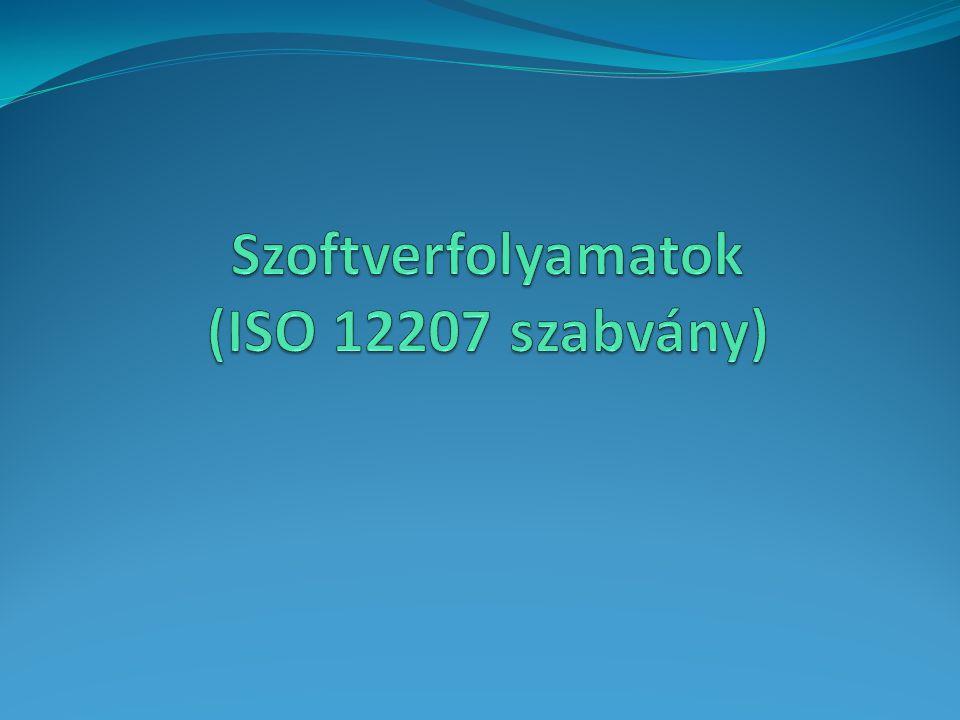 Szoftverfolyamatok (ISO 12207 szabvány)