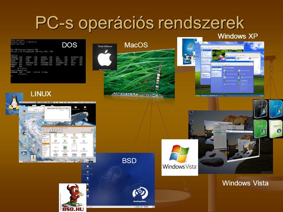PC-s operációs rendszerek