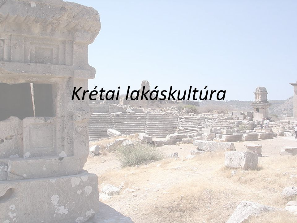 Krétai lakáskultúra