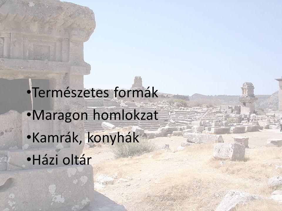 Természetes formák Maragon homlokzat Kamrák, konyhák Házi oltár