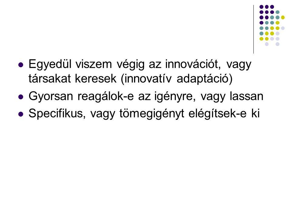Egyedül viszem végig az innovációt, vagy társakat keresek (innovatív adaptáció)