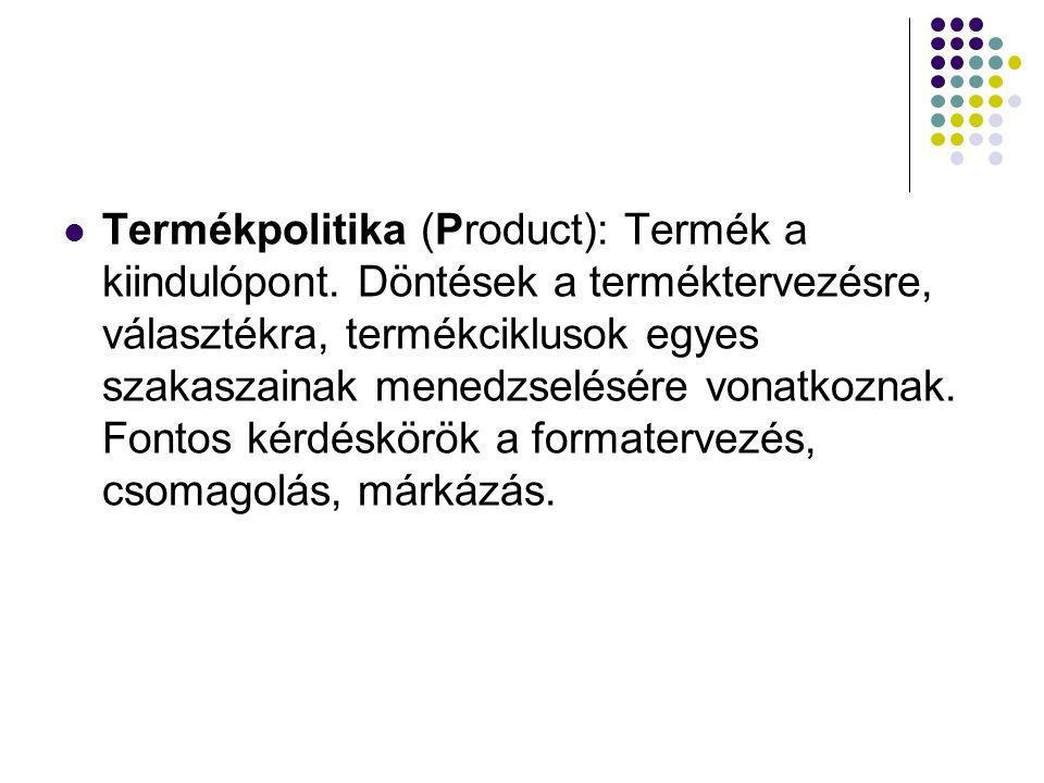 Termékpolitika (Product): Termék a kiindulópont