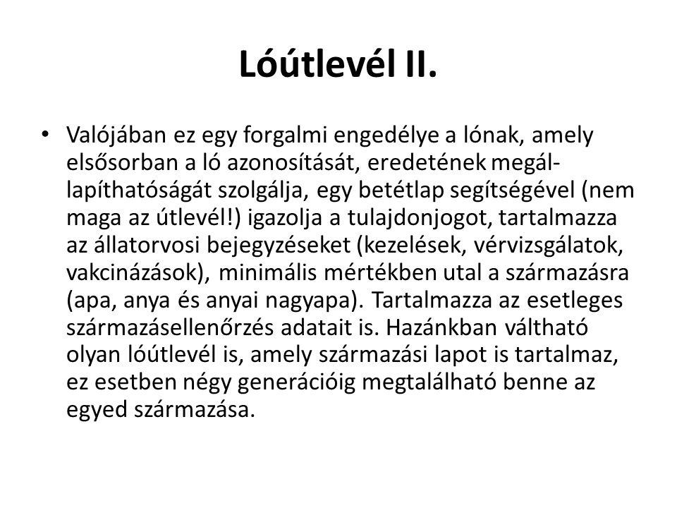 Lóútlevél II.
