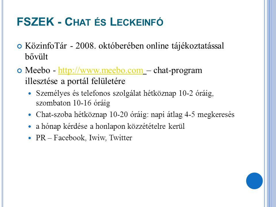 FSZEK - Chat és Leckeinfó