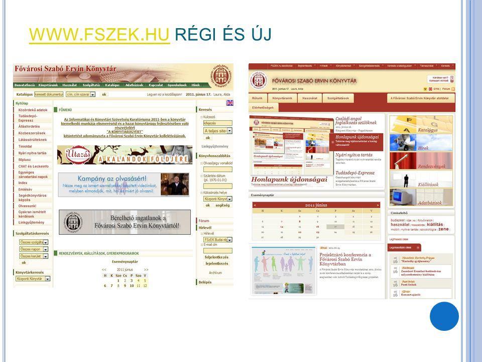 www.fszek.hu régi és új