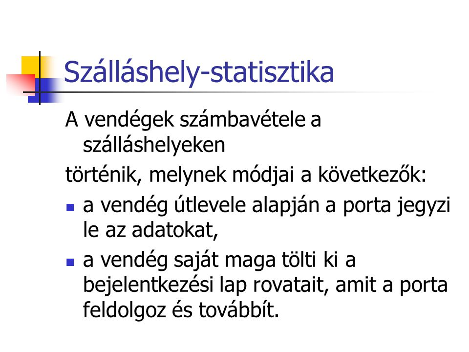 Szálláshely-statisztika